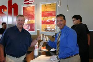 Forget ribbons, we cut burgers!