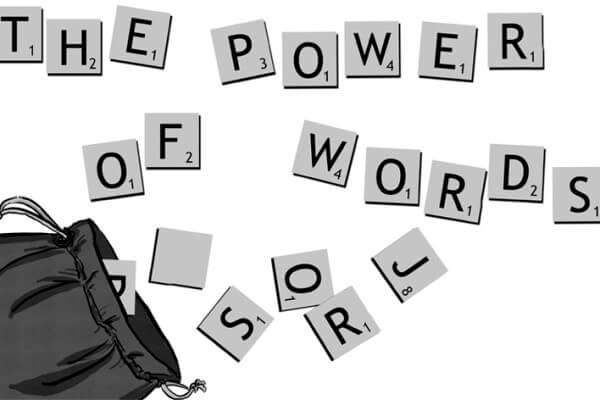 The power of words graphic