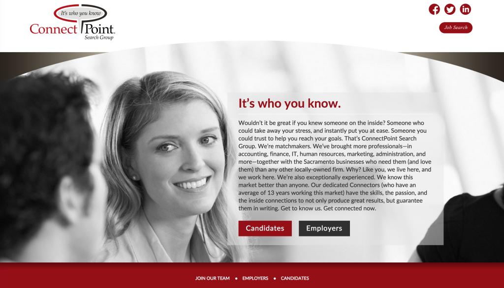 ConnectPoint website design, website programming
