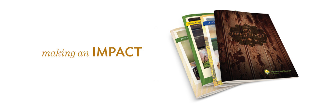 Agricultural Council of California creative services, annual report, graphic design