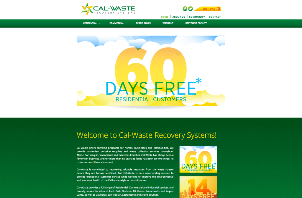 Cal-Waste Recovery Systems Website design