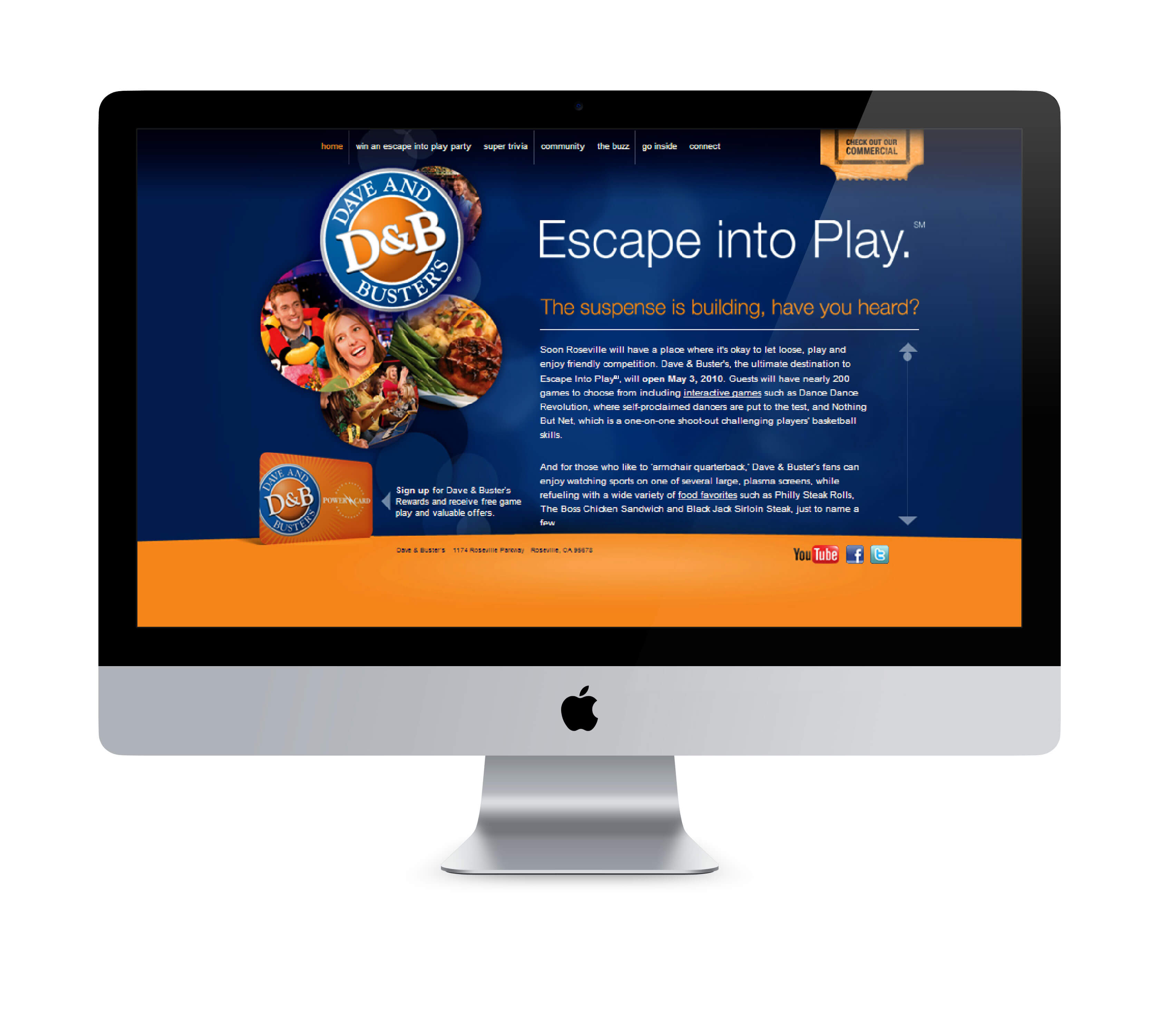 Dave and Buster's Microsite
