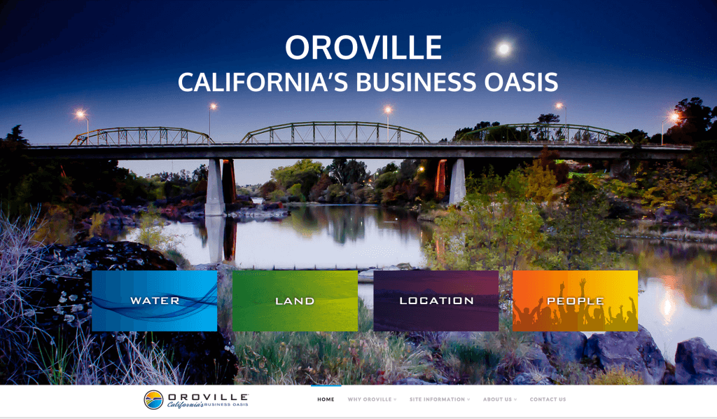 Oroville Economic Alliance Website design