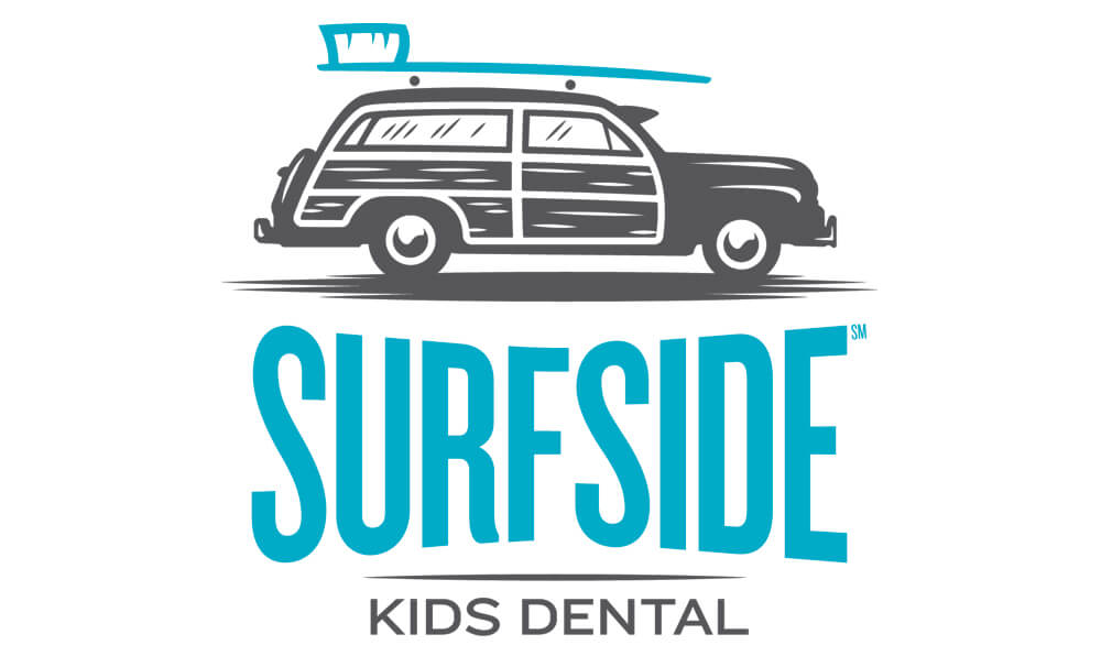 Surfside kids dental logo design
