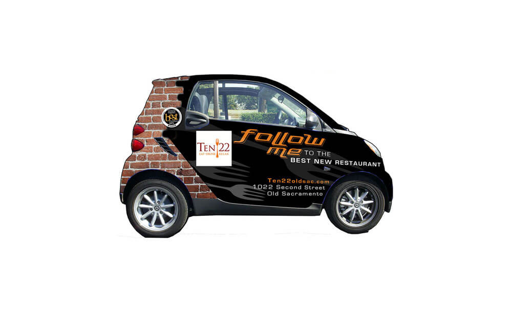 Ten22 vehicle wrap design