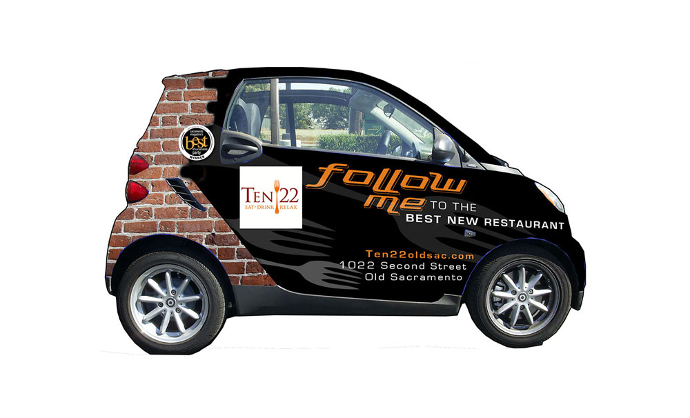 Ten 22 vehicle wrap and design