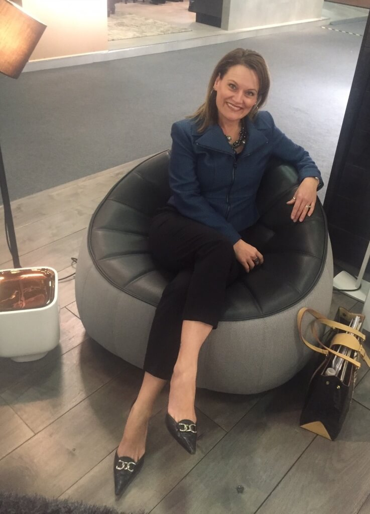 I had to try the Ligne Roset Ottoman out for myself!
