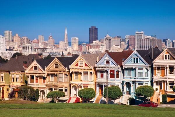 Postcard Row in San Francisco