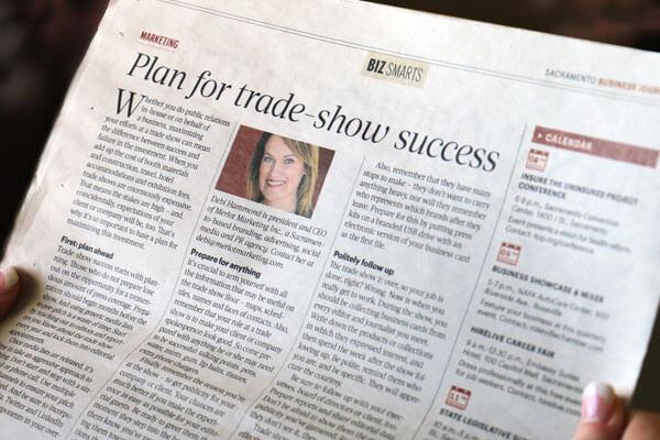 Plan for trade show success Sacramento Business Journal article