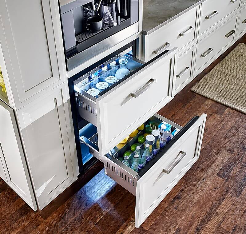 True Residential's Undercounter Refrigerator Drawers