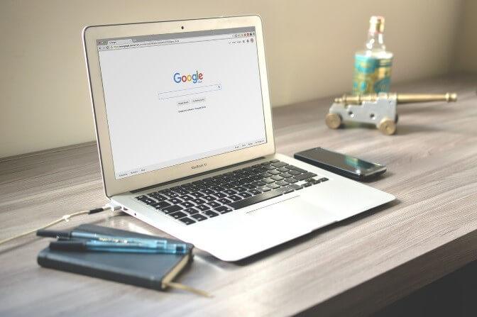 Computer screen searching Google