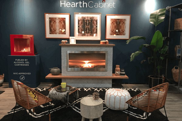 Ventless Fireplace by HearthCabinet