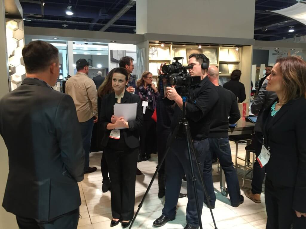 Merlot team filming an interview at KBIS